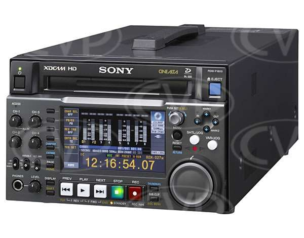 Sony PDW-F1600 (PDWF1600, PDW, 1600) Flagship XDCAM HD422 Professional Disc