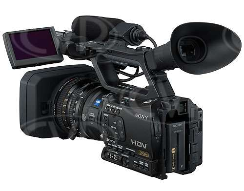 Sony HVR-Z7E - 3/4 rear view