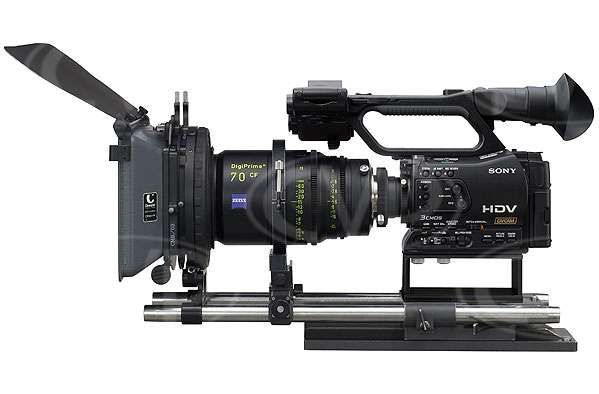 Sony HVR-Z7E - Fitted with optional Zeiss DigiPrime & Matte