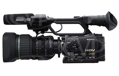 Sony HVR-Z7E - Fitted with Canon KH20x6.4KRS 1/2inch zoom lens