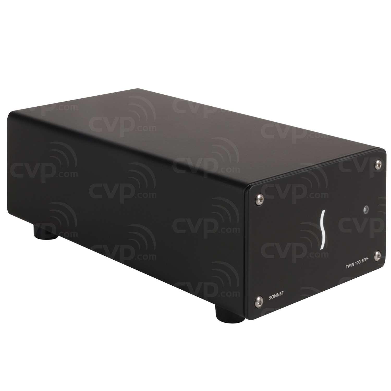 Sonnet SON-TWIN10GCSFP-TB3 (SONTWIN10GCSFPTB3) 10GbE Dual-Port SFP+ 10 Gigabit Ethernet Thunderbolt