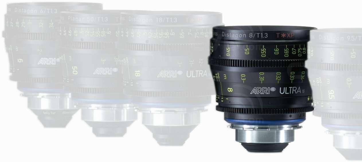 ARRI K2.47566.0 (K2475660) ARRI Ultra 16 8mm T1.3 Lens (Available
