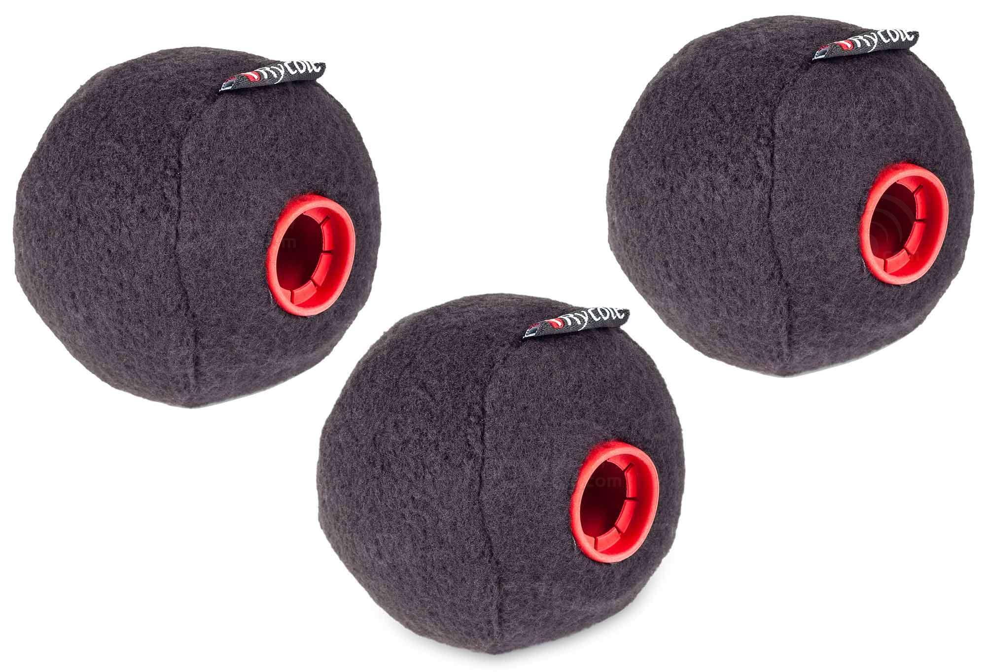 Rycote 039701 Baseball 3 Inch Windscreen (19/20mm) - Black