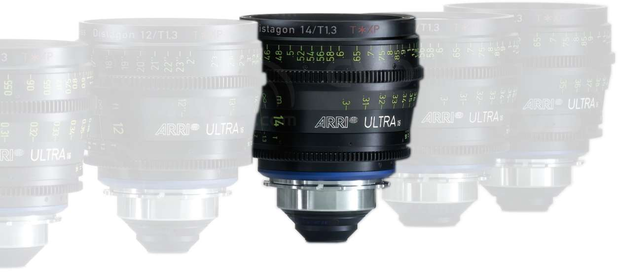 ARRI 14mm T1.3 Ultra 16 Distagon T* XP Lens - PL Mount - Available in Feet or Metre Scale (K2.47569.0)