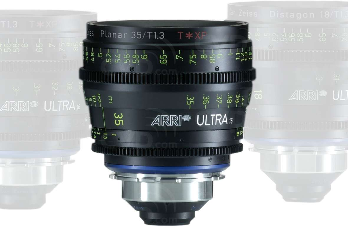 ARRI 35mm T1.3 Ultra 16 Planar T* XP Lens - PL Mount - Available in Feet or Metre Scale (K2.47586.0)