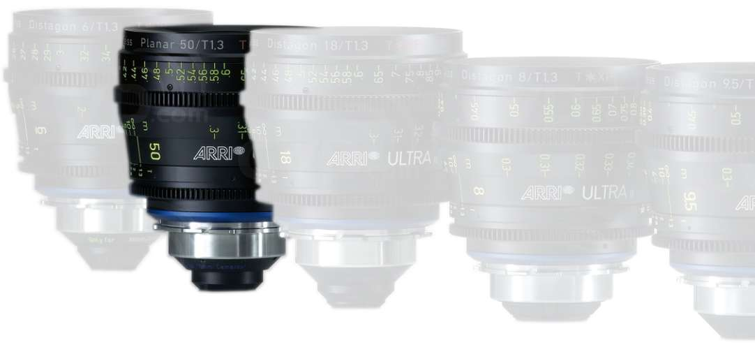 ARRI 50mm T1.3 Ultra 16 Planar T* XP Lens - PL Mount - Available in Feet or Metre Scale (K2.47587.0)