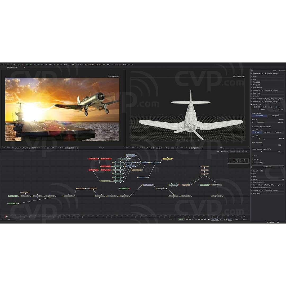 Blackmagic Fusion 8 Studio Software - Advanced Visual Effects and