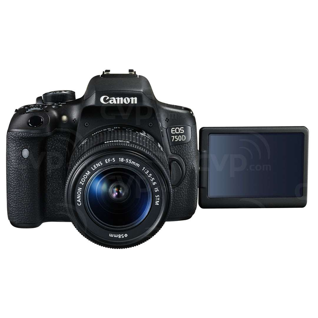 EOS 750D with 18-55mm & CS100