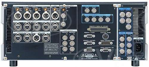 Sony HDW-M2000P Rear Panel