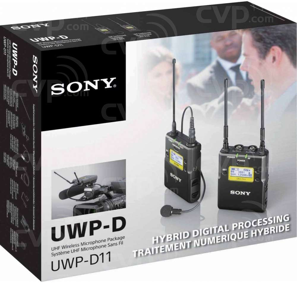 Sony UWP-D11/K33 (UWPD11) Wireless Digital Audio Processing Microphone, Transmitter and