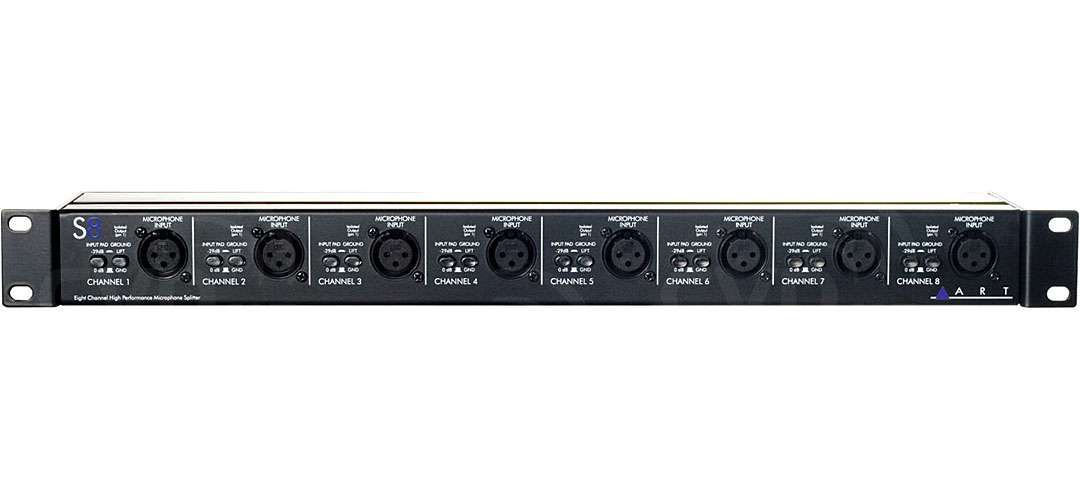 ART ART-S8 (ARTS8) 8-Channel Balanced 3-Way Microphone Splitter