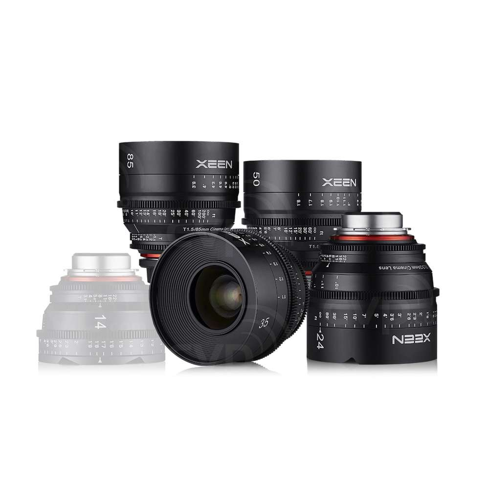 Samyang XEEN Cinema Lens Kit includes 16mm, 24mm, 35mm, 50mm and 85mm compatible with PL Mount (8001)