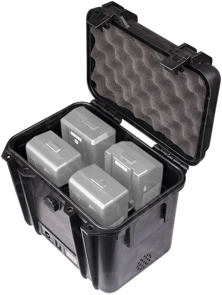 Swit S-4010 Dual 12V Power Box - Batteries not included