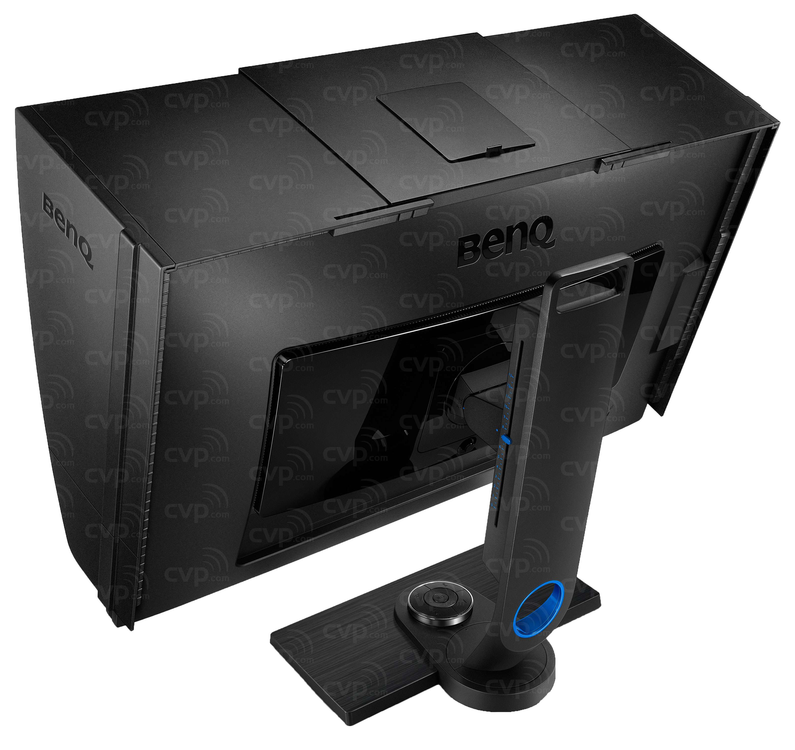 SW2700PT Pro 27in Monitor - Behind Angled Hood
