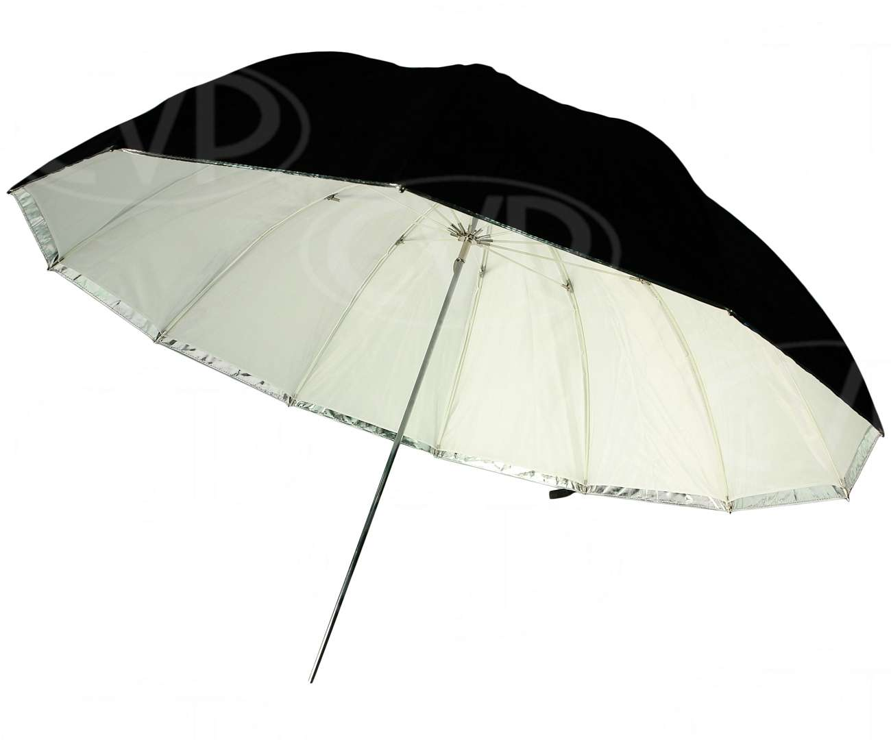 Gekko 64-inch Black/Silver and Translucent Jumbo Umbrella (GRU-11)