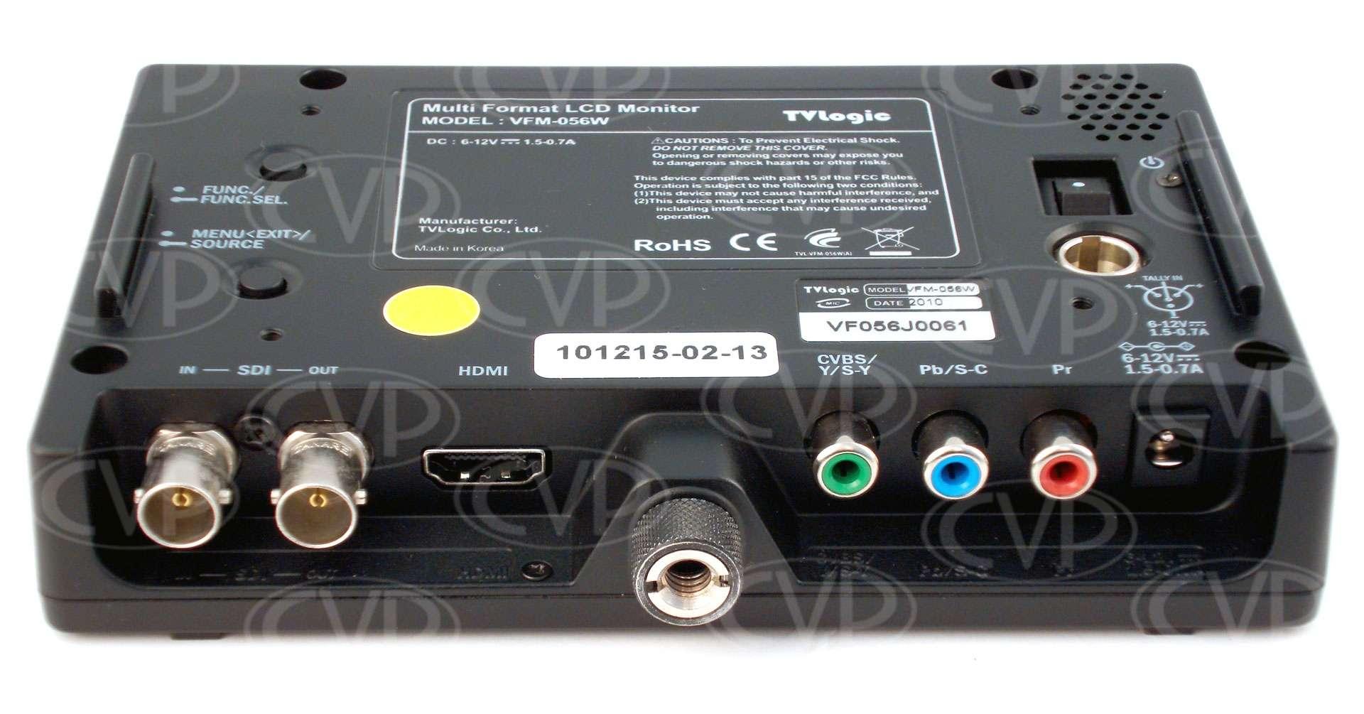 TVlogic VFM-056WP (VFM056WP) high resolution 5.6inch LCD field monitor rear