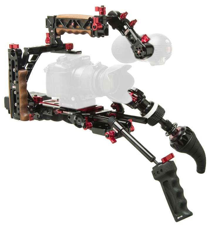 Zacuto Z-CINR-V2 (ZCINRV2) Indie Recoil Support Rig for DSLRs or