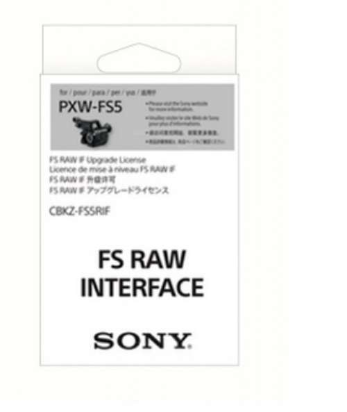 Sony CBKZ-FS5RIF Upgrade software key to enable RAW recording for