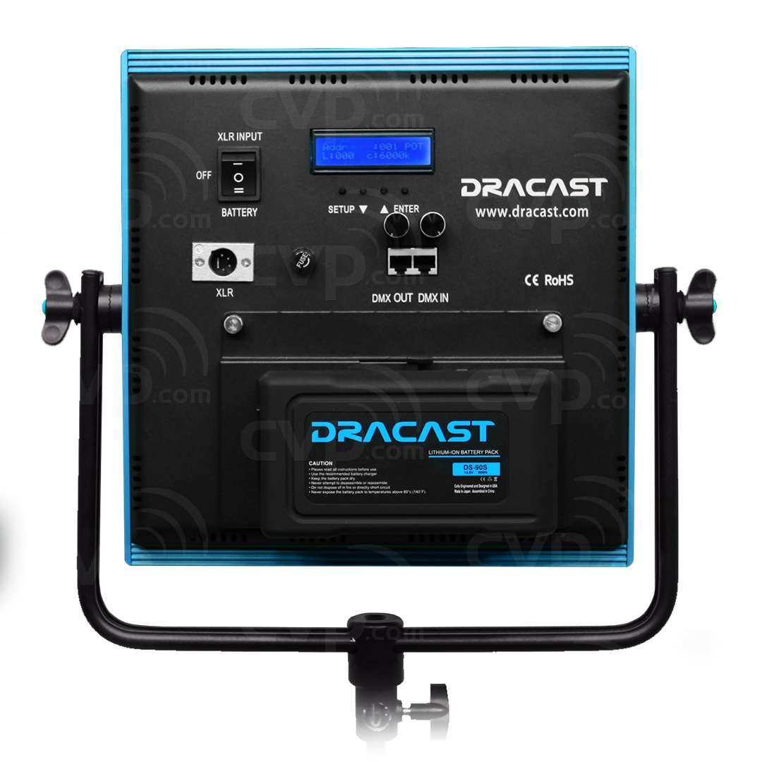 Dracast Newsroom Kit Plus - 3x LED1000Plus Lights with Stands