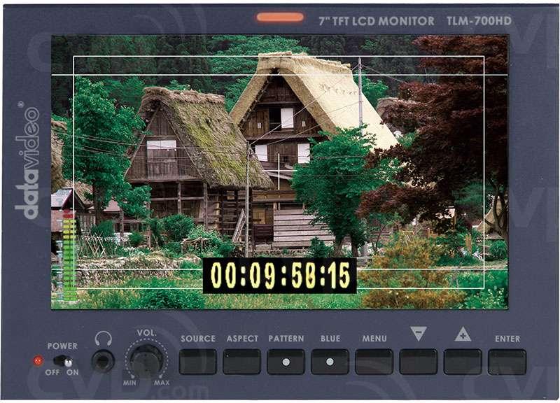 Datavideo TLM-700HD (TLM700HD) 7-inch HD Monitor - HD/SDI, HDMI input