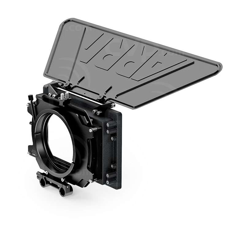 Arri K0.60152.0 (K0601520) MMB-2 Mini Matte Box Double Tray 4-inch x 5.65-inch LWS Set includes Mini Matte Box, Combo Filter Frame (x2), Lightweight Support Console and Top Flag