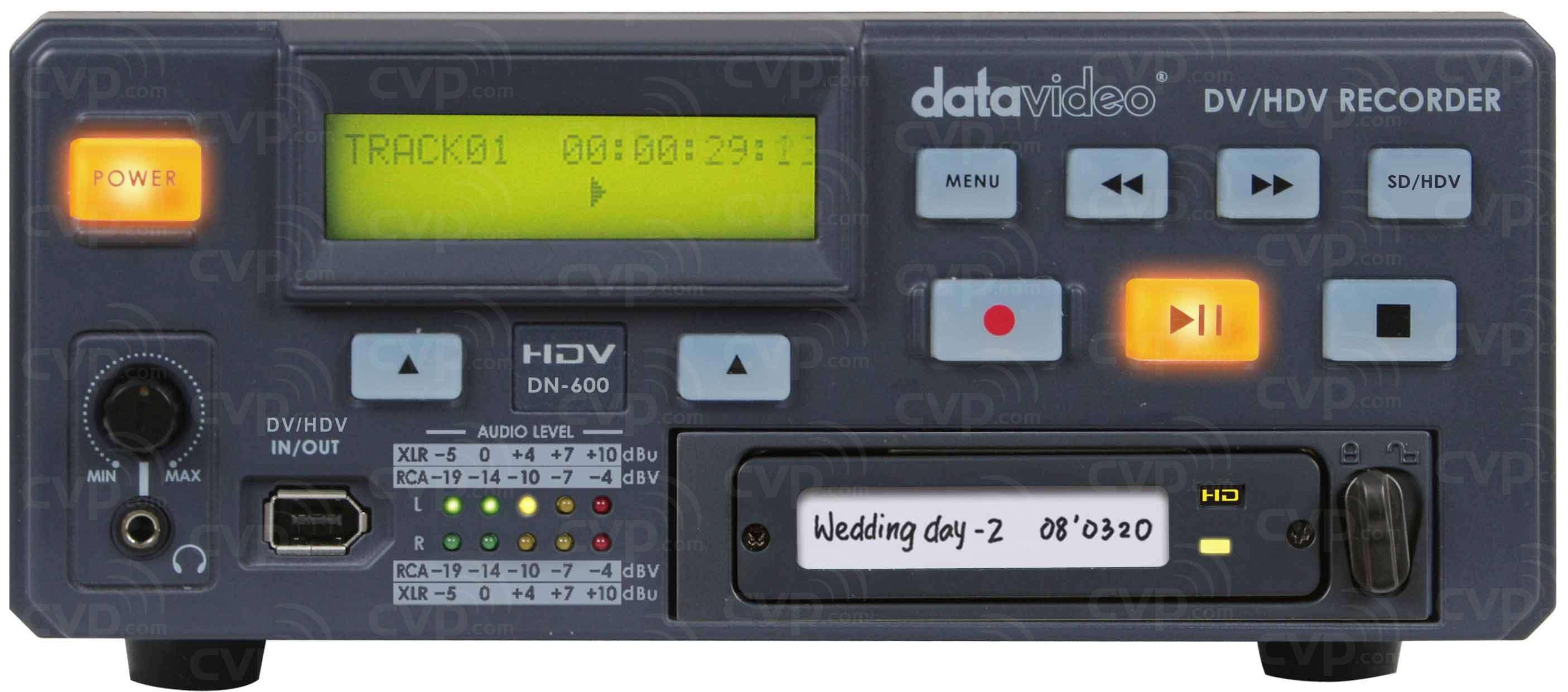 Datavideo DATA-DN600-0TB (DATADN6000TB) DN-600 Hard Drive Video Recorder (No HDD