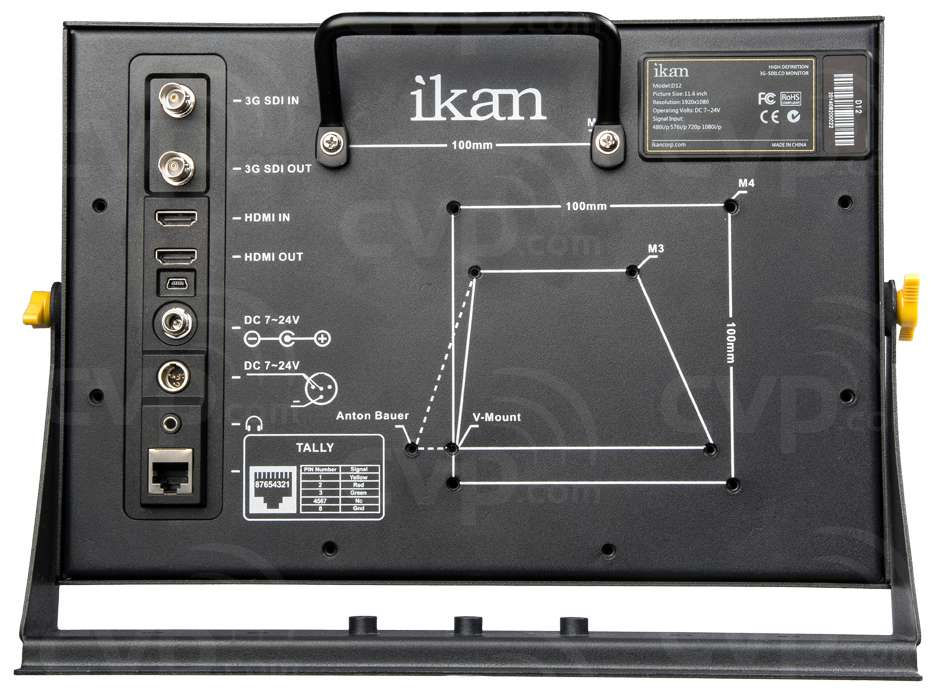Ikan D12 (D-12) 11.6 Inch Full HD 3G-SDI Monitor with