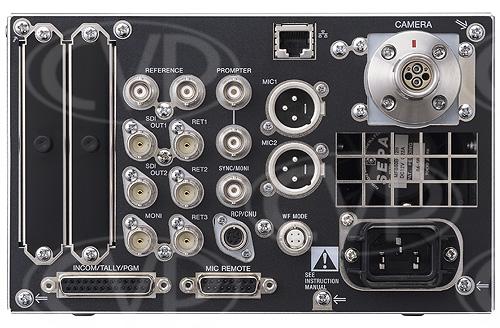 sony hdcu 1500 hdcu1500 hd camera control unit ccu for hdc sony hdcu 1500 sony hdcu 1500 rear i o panel view