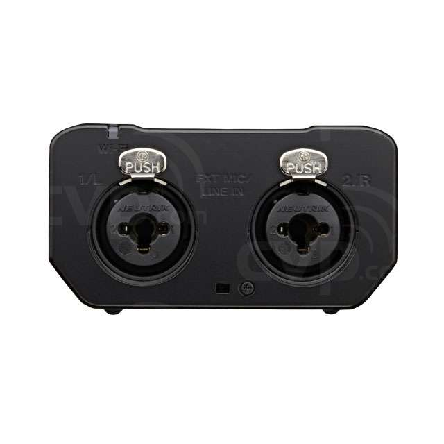 Bottom View showing Mic / Line Input Sockets