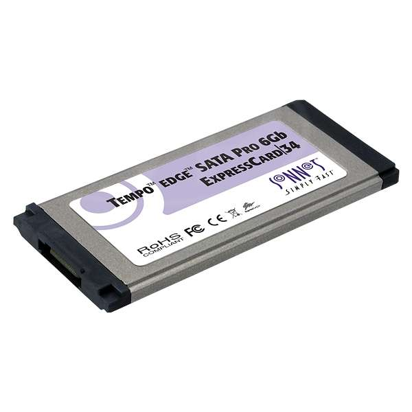 Sonnet SON-TSATA6PRO1-E34 (SONTSATA6PRO1E34) Tempo Edge SATA Pro 6Gb 1-Port ExpressCard/34