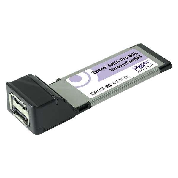 Sonnet SON-TSATA6PRO2-E34 (SONTSATA6PRO2E34) Tempo Edge SATA Pro 6Gb 2-Port ExpressCard/34