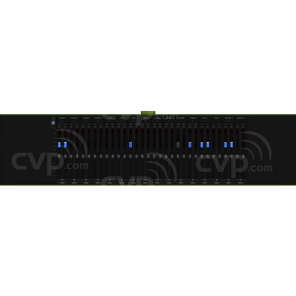 Multi-Channel Audio Mixer (Monitor Display)