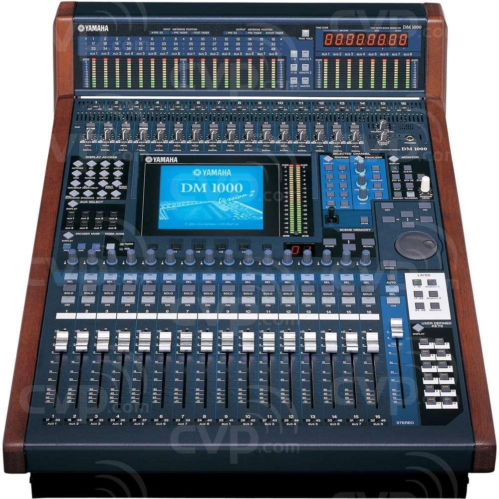 buy yamaha dm1000 vcm dm1000vcm compact 48 channel digital production mixing console. Black Bedroom Furniture Sets. Home Design Ideas