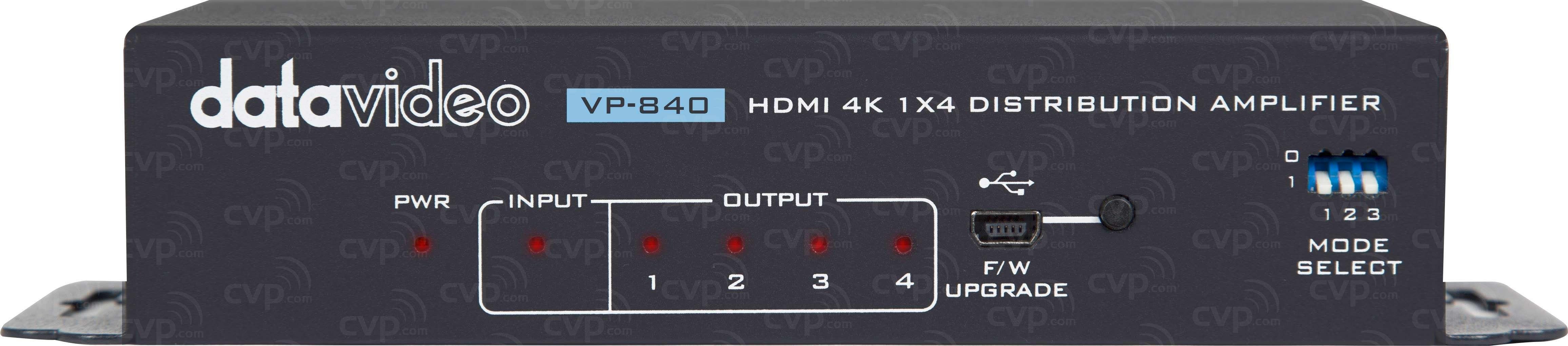 Datavideo DATA-VP840 (DATAVP840) VP-840 4K HDMI Distribution Amplifier 1x4