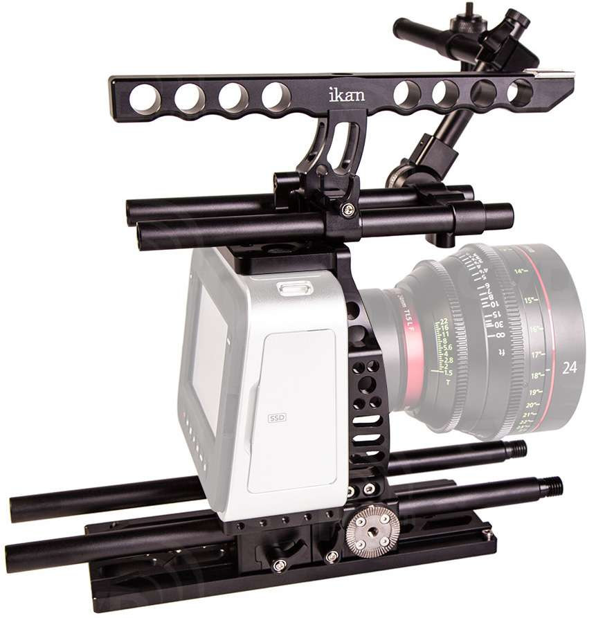 Ikan ELE-P-BMCC (ELEPBMCC) Elements Plus Blackmagic Cinema Camera Cage -