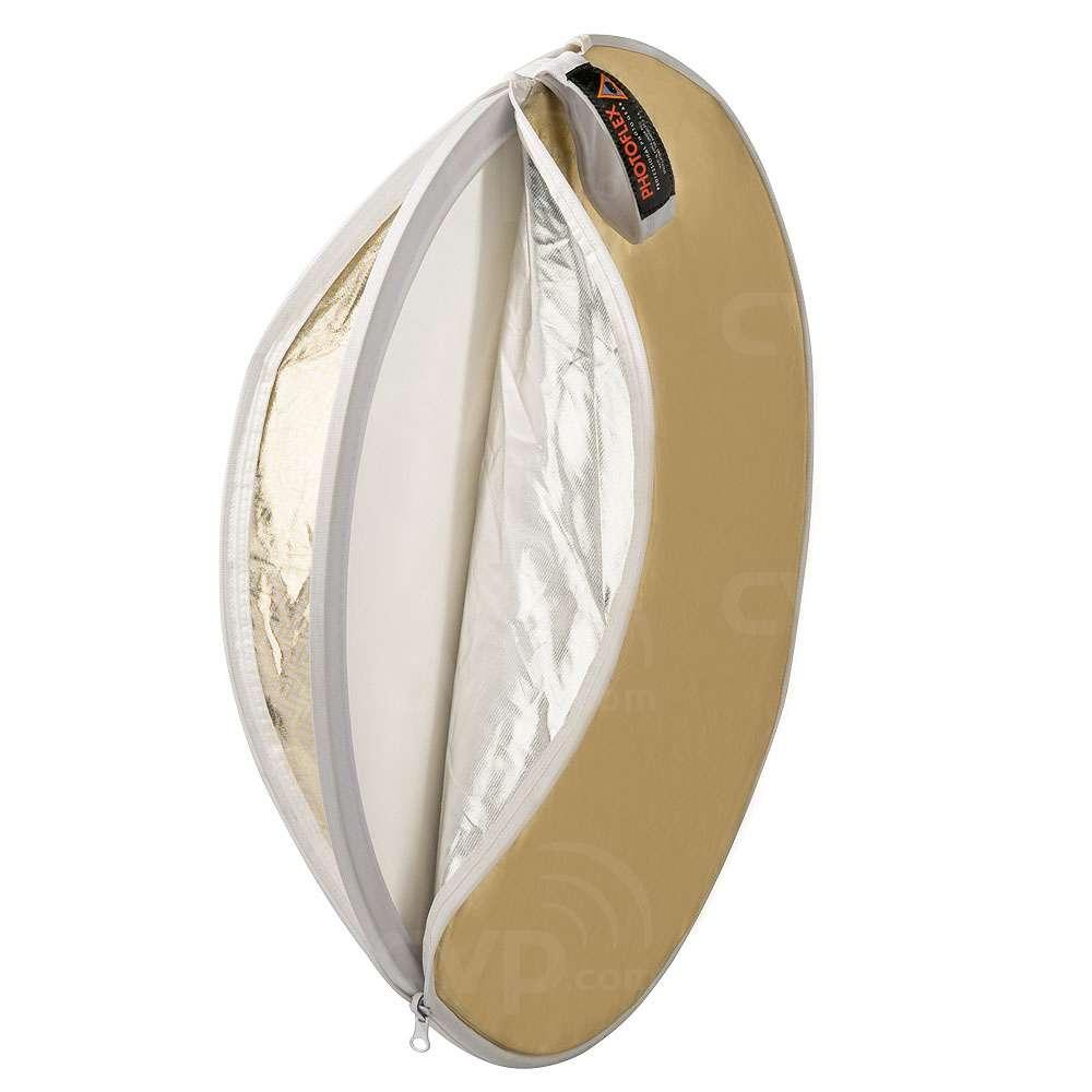 Photoflex DL-22MULTI (DL22MULTI) 22inch (56cm) 5-in-1 MultiDisc Diffuser (White, Gold,