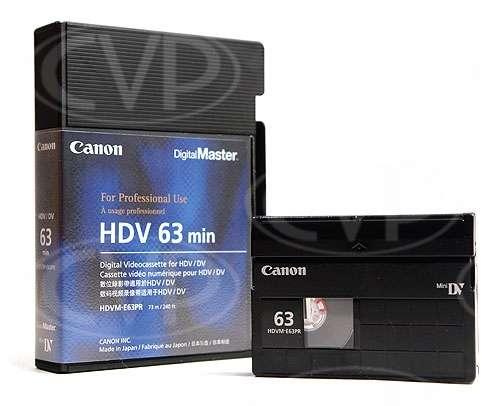 Canon HDVM-E63PR DV / HDV tape for XL-H1 / XH-A1