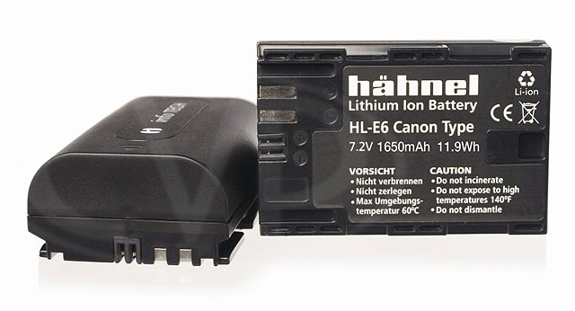 Hahnel HL-E6 (HLE6) Lithium Ion Battery Replacement for Canon LP-E6