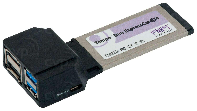 Sonnet (SON-TSATA6USB3-E34) Tempo SATA 6Gb & USB 3.0 ExpressCard/34 (2+2