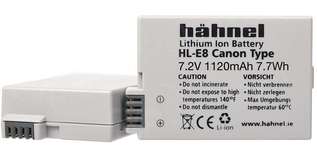 Hahnel HL-E8 Canon Compatible Digital Camera Battery - LP-E8 Alternative