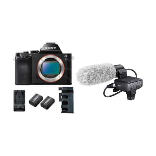 Sony Alpha a7S XLR Kit 2 - 4K 12MP 35mm Full Frame Digital SLT Camera Body with XLR-K2M Adapter and Microphone Kit, 2x Batteries and Charger (p/n ILCE-7S/XLRKIT2)