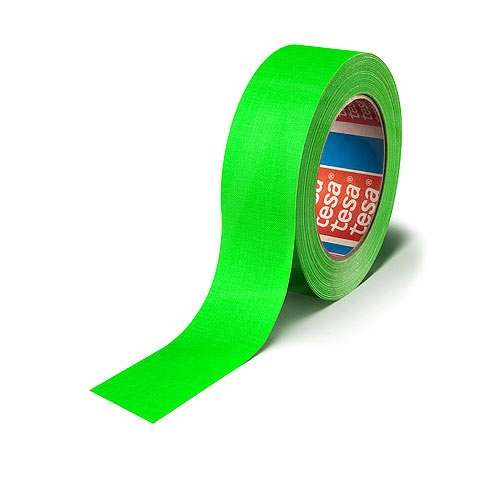 CVP Fabric Backed Self-Adhesive Fluorescent Gaffer Tape - Green -