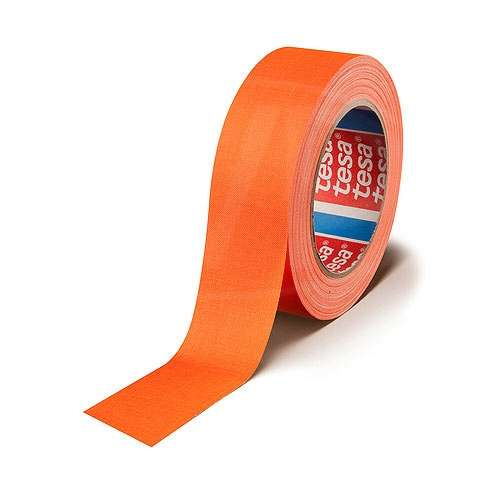 CVP Fabric Backed Self-Adhesive Fluorescent Gaffer Tape - Orange -