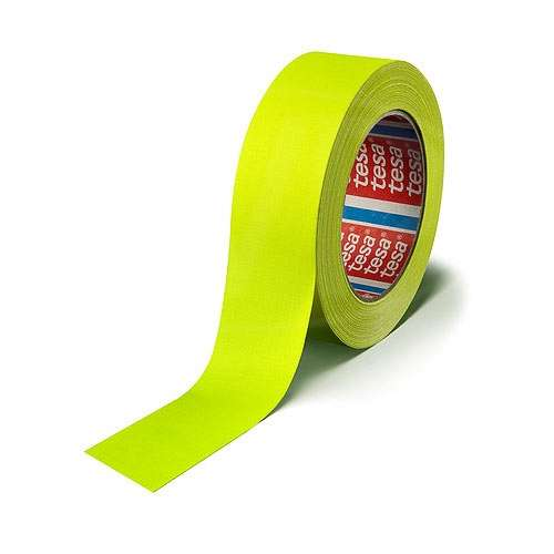 CVP Fabric Backed Self-Adhesive Fluorescent Gaffer Tape - Yellow -