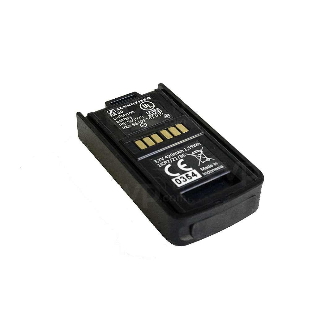 Sennheiser BA20 Li-ion Battery Pack for EKP-AVX Plug-on Receiver (505973)