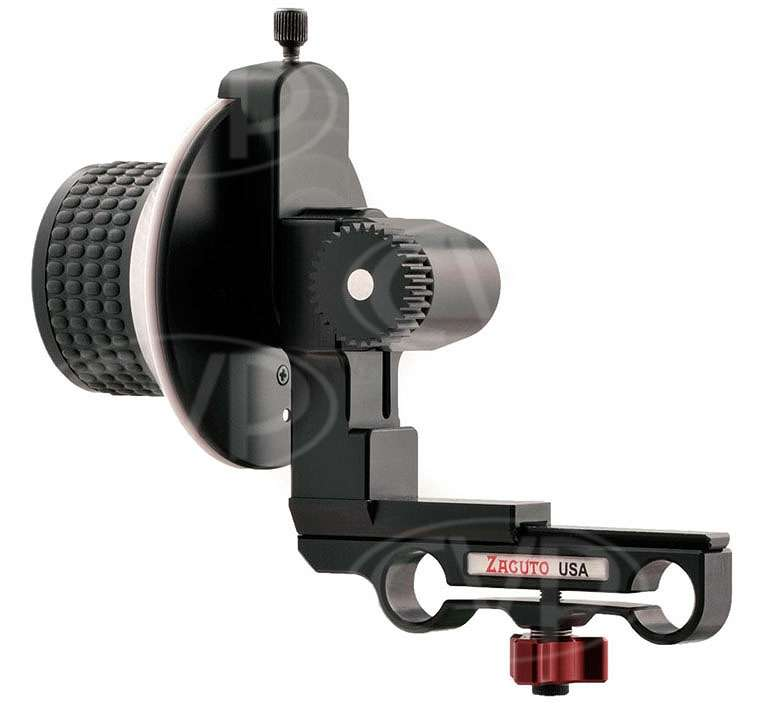 Zacuto Flippable Reversible Z-Focus followfocus for 15mm rods - Z-FF-1-FR