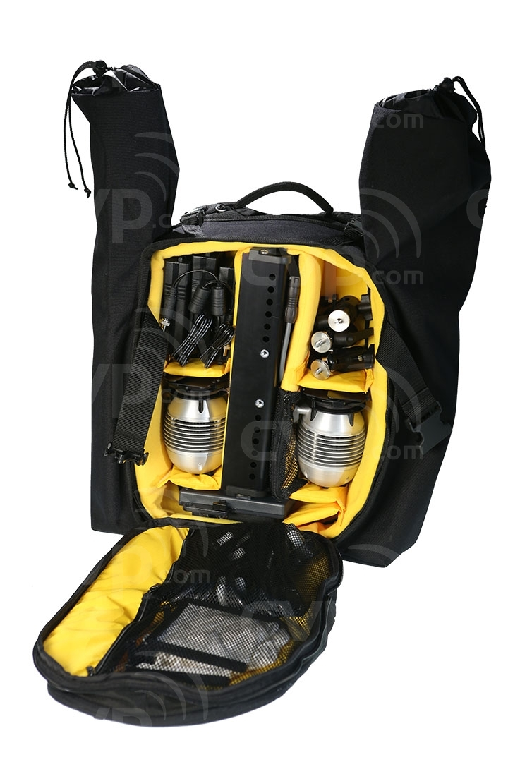 Gekko KIT-3HEAD200 in backpack case