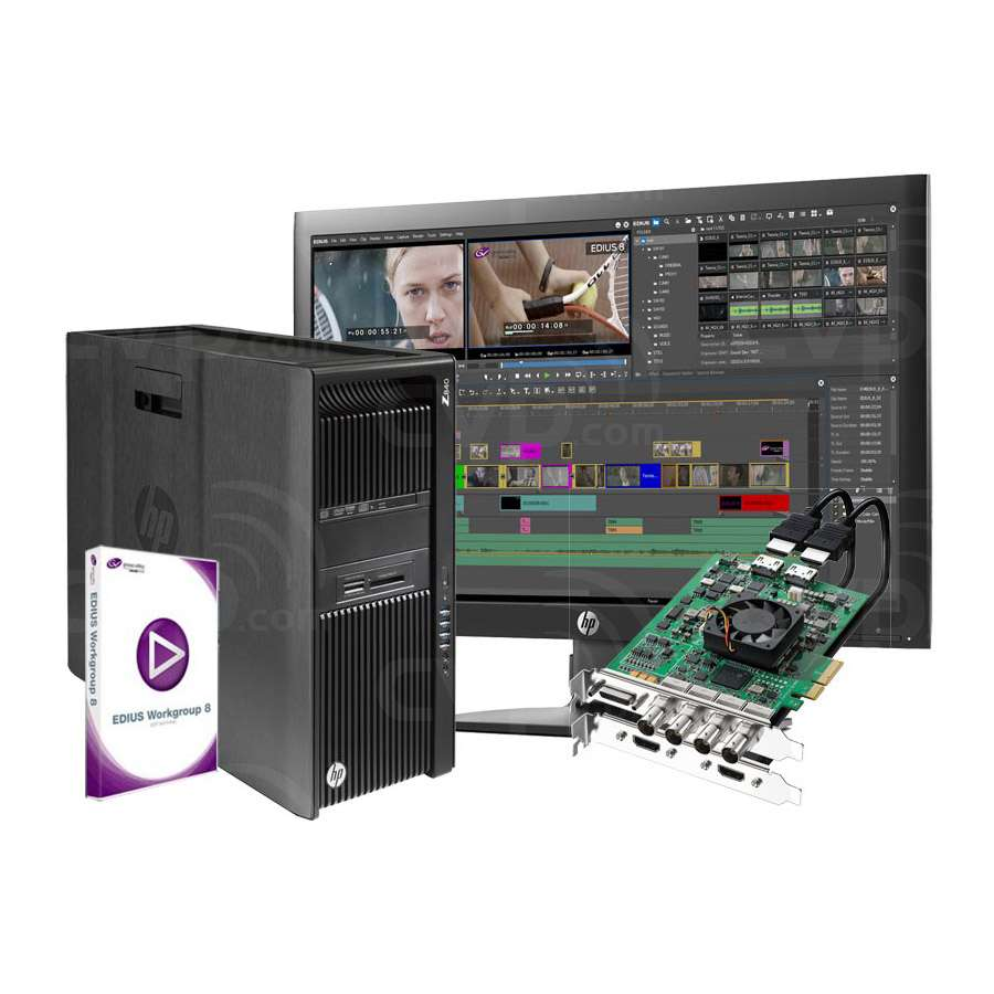 Grass Valley 4K Turnkey System with z840A Workstation, 21.5 Display,