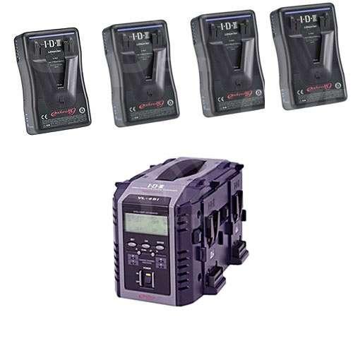 IDX EP-9/4Si (EP94Si) 4 x ENDURA-HL9 Batteries, 1 x VL-4Si