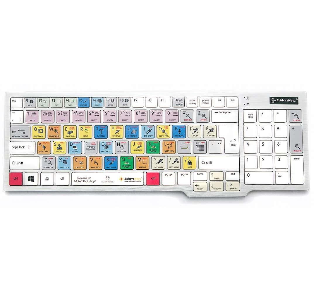 Editors Keys Photoshop CC Dedicated Shortcut Keyboard for PC (p/n